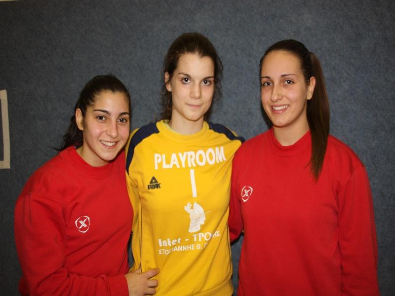 Τρία κορίτσια του Ομίλου Προσοτσάνης στην Εθνική Νεανίδων Χάντμπολ