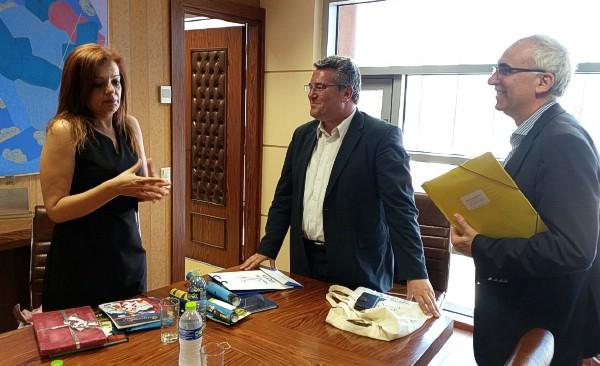 Επίσκεψη της Βουλευτή Β' Πειραιώς της Δημοκρατικής Αριστεράς κα. Γιαννακάκη Μαριά στο Δήμαρχο Δράμας