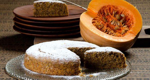 Κέικ με κολοκύθα και ελαιόλαδο