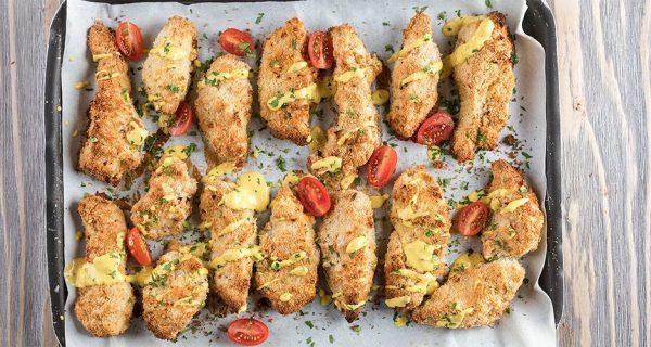 Κοτόπουλο πανέ με ινδοκάρυδο του Άκη Πετρετζίκη