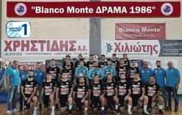 Στις 4 πρώτες ομάδες της Handball Premier o BIANCO MONTE ΔΡΑΜΑ 1986.