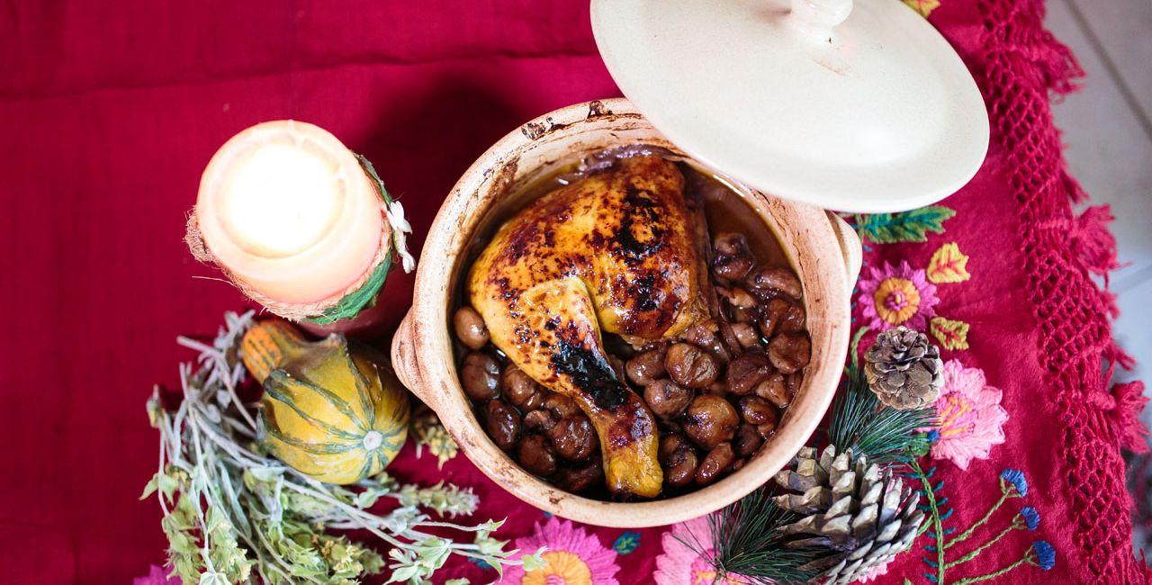 Κόκορας με κάστανα, συνταγή από τα ορεινά Χανιά