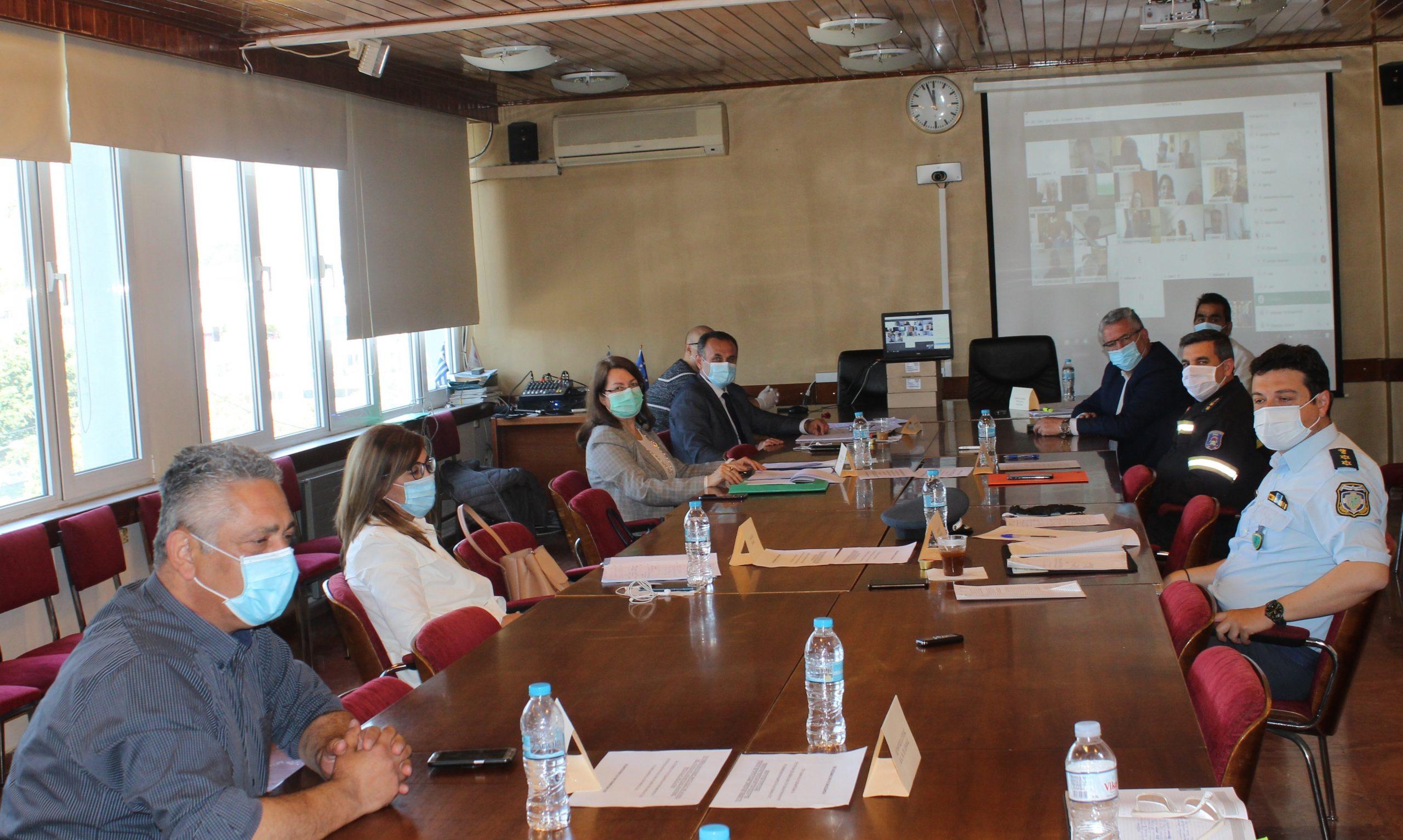 Σύσκεψη Συντονιστικού Οργάνου Πολιτικής Προστασίας Π.Ε. Δράμας για την αντιμετώπιση Δασικών Πυρκαγιών Θερινής Περιόδου 2020 με Τηλεδιάσκεψη