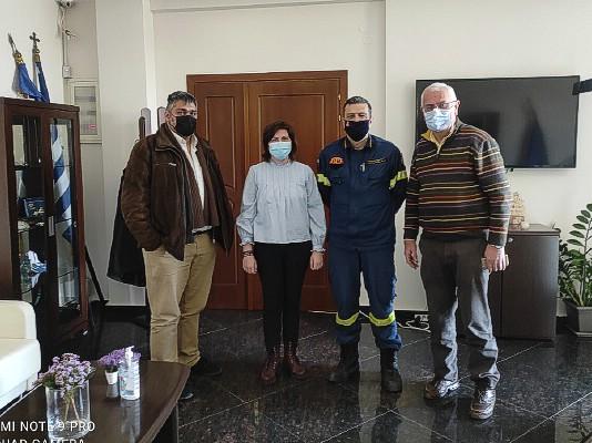 Συναντήσεις Διοικητή Πυροσβεστικής Υπηρεσίας Δράμας με τους Δημάρχους Προσοτσάνης και Δοξάτου