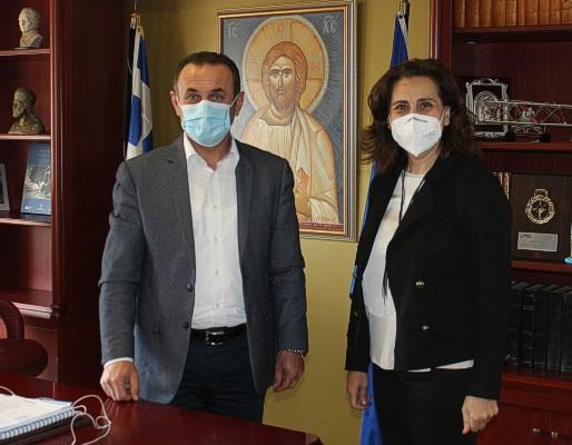 Συνάντηση του Αντιπεριφερειάρχη Δράμας κ.Γεώργιου Παπαδόπουλου με τη Βουλευτή Ν.Δράμας του ΚΙΝ.ΑΛ. κα.Χαρά Κεφαλίδου