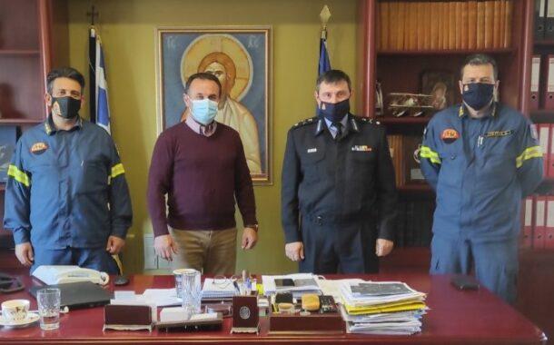 Συνάντηση του Αντιπεριφερειάρχη Δράμας κ.Γεώργιου Παπαδόπουλου με τον Νέο Διοικητή της Πυροσβεστικής Διοίκησης Ανατολικής Μακεδονίας και Θράκης Αρχιπύραρχο Βασίλειο Κούκουρα
