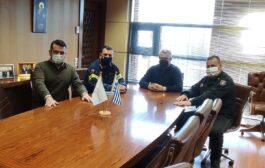 Εθιμοτυπική επίσκεψη του Διοικητή Πυροσβεστικής Υπηρεσίας Δράμας στον Δήμαρχο Δράμας